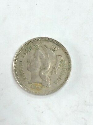 1879 THREE  Cent Nickel  Full Liberty rare date some green see the pictures