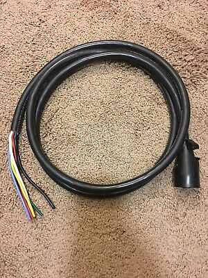 7ft  7 Pin Trailer Plug Cord Wire Harness Cable for Trailer RV Wiring New