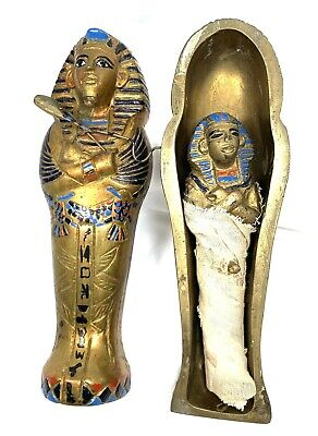 Anatomically Correct Egyptian KING TUT Figure Statue Coffin Mummy Tomb Box Egypt
