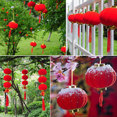 Spring Festival Traditional Chinese Red Small 30Pcs/Set Hanging Lantern