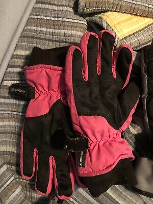 pink and black  gloves