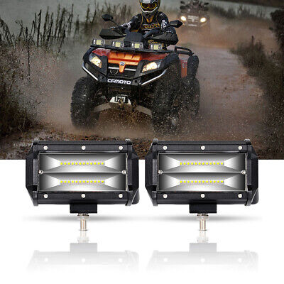 2X 5inch LED Work Light Bar Wide Flood Offroad 72W Driving SUV UTE ATV 4X4 Truck