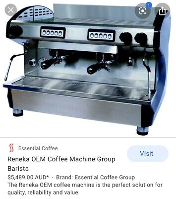 2 group commercial coffee machine