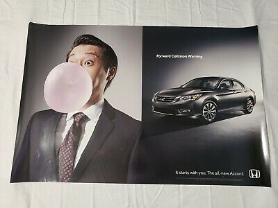 "2012 Honda Accord Dealership Promo Poster 36""×24"" USA"