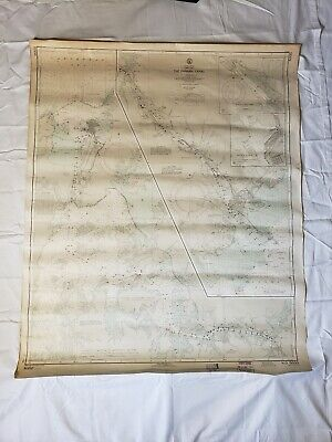Vintage US Navy Central America Canal Zone The Panama Canal Map HTF