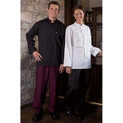 Yarn Dyed Baggy Chef Pant in Black and Wine Stripe - XLarge