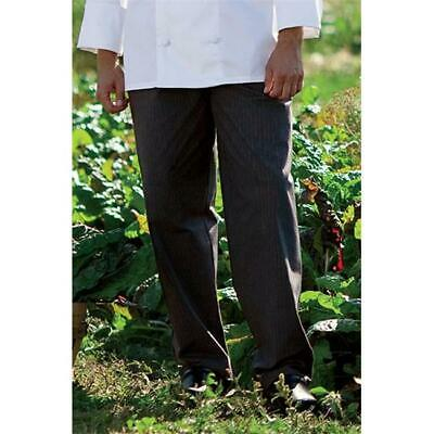 Yarn Dyed Baggy Chef Pant in Grey Triple Pinstripe - XSmall