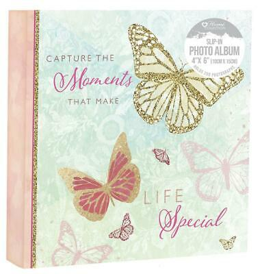 Butterfly 6x4 Designer Photo Album With 200 Pockets New