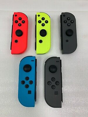 Original Nintendo Switch Joy Con Controllers Red Right Grey Left