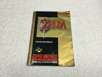 Zelda A Link To The Past Instruction Manual / Booklet Only Super Nintendo SNES