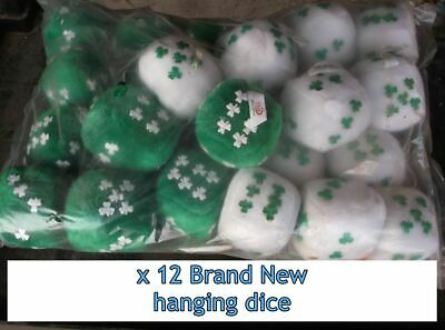 12 hanging fluffy Irish dice St Patricks Wholesale Clearance Reseller soft toy