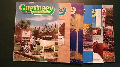 (6) 1986-93 Guernsey Dairy Cattle Breeders Journals - All-Americans - Nationals