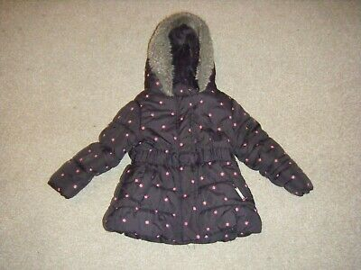 Girls Black and Pink Hooded Coat Age 12-18 Months from Rocha Little Rocha