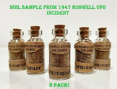 1947 Roswell UFO Incident Soil / Earth Sample 5 Pack