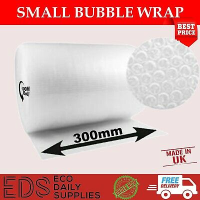 UK BUBBLE WRAP SMALL BUBBLE WRAP Roll - CHEAPEST online 300mm x 100m
