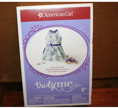 American Girl Truly Me Simply Spring Outfit Dress, Sandals & Accessories NIB