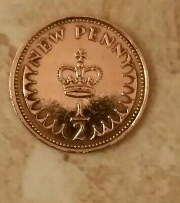 Decimal (1974) 1/2 New Penny Coin. (No longer in Circulation).#1
