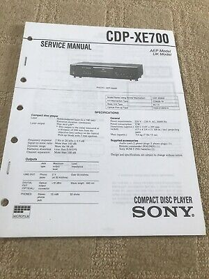 SONY Original Sony service manual CDP-XE700