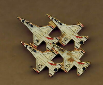 USA USAF 4 fighters, lapel pin P49