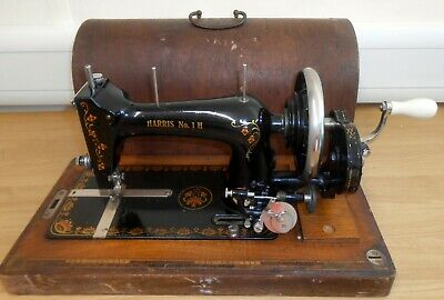 Antique 1900's Harris Type 1H Half Sized Sewing Machine Made by Haid Und Neu