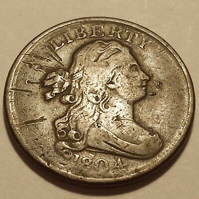 1804 Drapped Bust Half Cent Fine Detail 216 Years Old * #4
