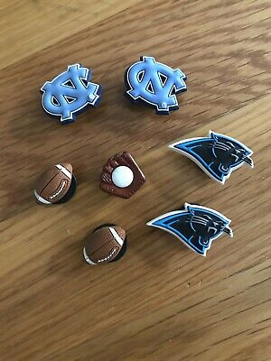 JIBBITZ SHOE ACCESSORIES • Charms Crocs • UNC Tarheels, Carolina Panthers, Sport