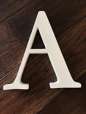 """POTTERY BARN KIDS Wall Letter 8inch White """"A"""" ($10)"""