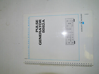 HP Pulse-Generator 8082 A Operating and Service Manual Bedienungsanleitung