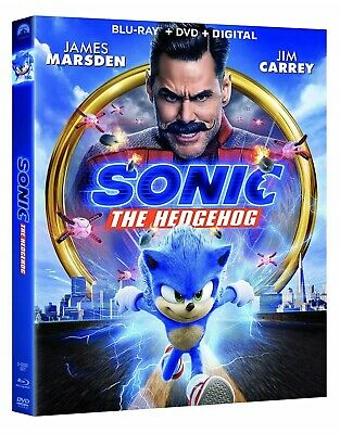 Sonic The Hedgehog(Blu-Ray+Dvd+Digital)W/Slipcover New Free Shipping Comic Book