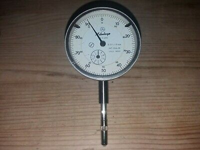 Mitutoyo dial test indicator 2046-08 10mm range X 0.01mm resolution. No reserve.