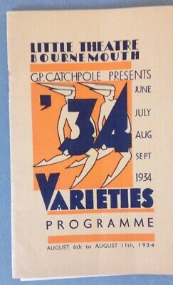 Bournmouth Little Theatre Varieties August 1934