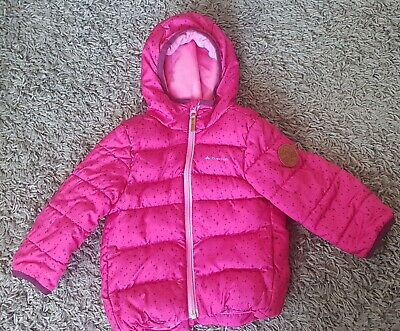 Girls Pink Quechua coat from Decathlon coat aged up to 2