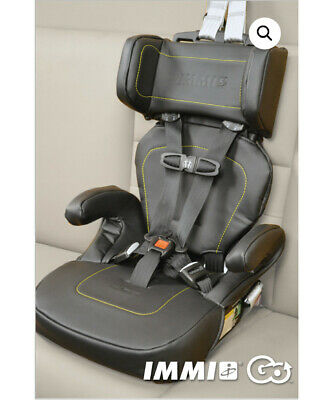 IMMI GO car seat black leather - 5 point harness
