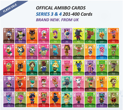 Official Animal Crossing Amiibo Cards Series 3 And 4