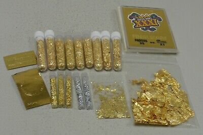 refiner or investor lot of gold leaf and gold flakes, FREE SHIPPING