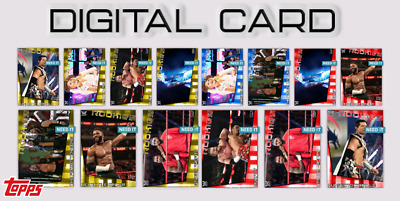 2020 ROOKIES DROP 2 GOLD + BRAND COLOR SET OF 14 CARD TOPPS WWE Slam Digital