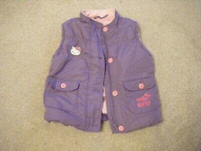 Girls Purple Hello Kitty Body Warmer Age 6-7 Years from Marks and Spencer