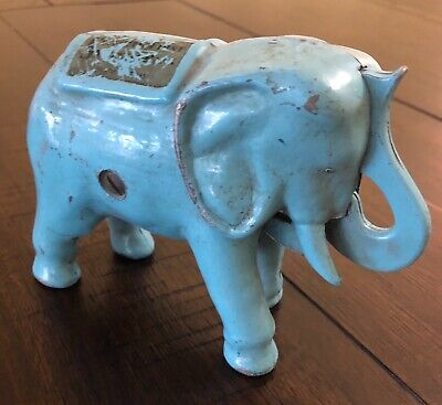 Antique Security First National of Los Angeles Mechanical Coin Bank (blue)