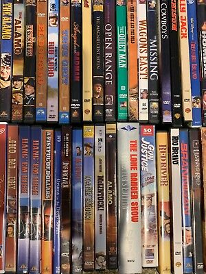 HUGE DVD WESTERN COLLECTION ESTATE SALE $4/$3 SHIPPING 1ST .25c EACH ADDITIONAL