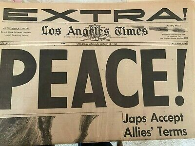 Old newspapers lot, WWII Los Angeles Times