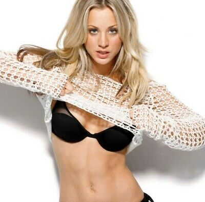 Kaley Cuoco - Taking Off Her Top And Exposing Her Bra !!!
