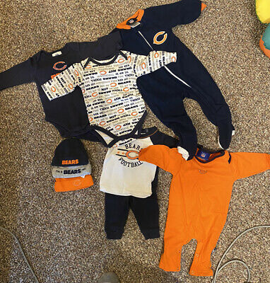 Lot of Chicago Bears baby clothes. 3-6 mo.