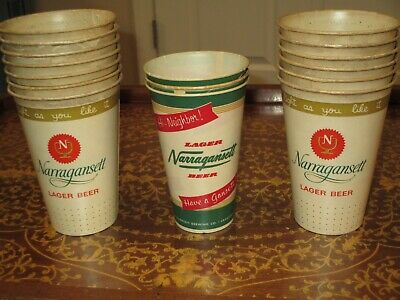 Narragansett Beer Paper Cups   #16