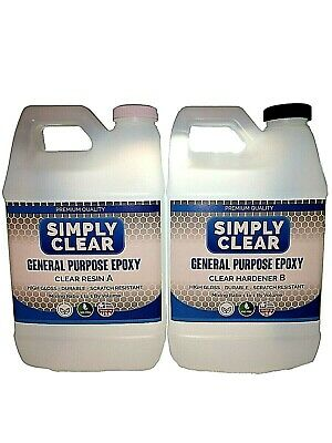 Crystal Clear Bar/Table Top Epoxy Resin Coating For Wood or Crafts -1 Gallon Kit