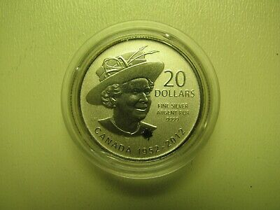 2012 Specimen $20 for $20 #4-Queen Diamond Jubilee Canada .9999 silver COIN ONLY
