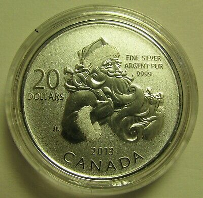 2013 Specimen $20 for $20 #10-Santa Canada .9999 silver COIN ONLY twenty dollars