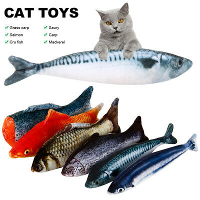 6Pack Realistic Interactive Fish Cat Kicker Crazy Pet Toy Catnip Toys Gift