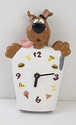 Scooby Doo Wall Clock Refrigerator Battery Operated Hanna Barbera 1998 – works!