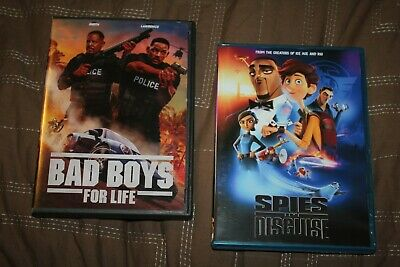 Spies In Disguise + BAD BOYS FOR LIFE (DVD) ***WILL SMITH LATEST MOVIES***