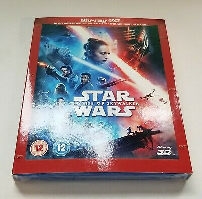 Star Wars: The Rise of Skywalker w/ Slipcover (3D + 2D Blu-ray, 3 Discs) *NEW*